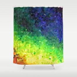 Rainbow Crystals Shower Curtain