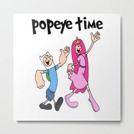 popeye time Metal Print