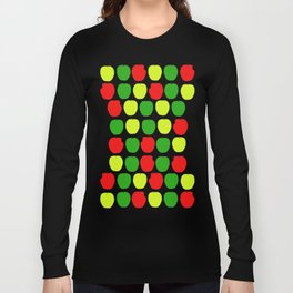 Summer Apple Picking Green, Red and Yellow Long Sleeve T-shirt