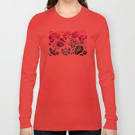 Vintage Floral Long Sleeve T-shirt