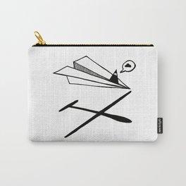 Ninja flies a Paper Plane Carry-All Pouch