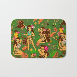 Tiki Temptress on Green Bath Mat