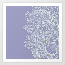 Abstract Nature in Ultraviolet Art Print