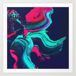 Neon abstract #FEELING Art Print