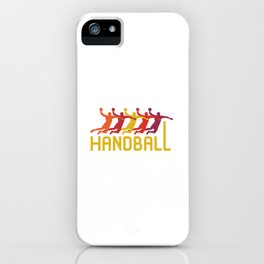Handball Retro Vintage Player Coach Gift Idea iPhone Case