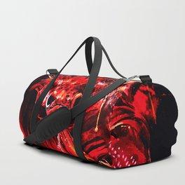 red siamese fighting fish betta splendens ws Duffle Bag