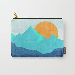 Wild mountain sunset landscape Carry-All Pouch