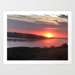 Rowan's Ravine Sunset Art Print