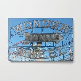 WONDER WHEEL, CONEY ISLAND Metal Print