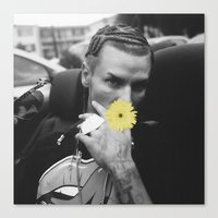 riff raff Canvas Prints featuring RIFF RAFF LIKES NATURE... RARE POLAROID by chelseysplayground