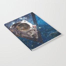 Galaxy Space Cat Astronaut Notebook