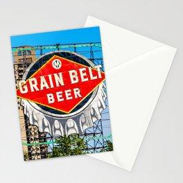 Grain Belt Beer Sign Stationery Cards