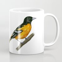 baltimore Mugs featuring Baltimore oriole  by Alar Illustration