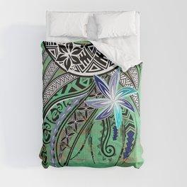 Vintage Samoan - Hawaiian - Polynesian Hibiscus Tribal Comforters