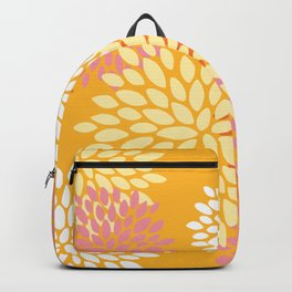Bright Summer Floral Pattern, Colorful, Yellow, Orange, Pink Backpack