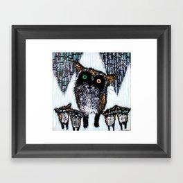 Cabin Fever Foxes Framed Art Print