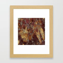 Abstract copper pattern Framed Art Print