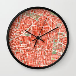 Mexico city map classic Wall Clock