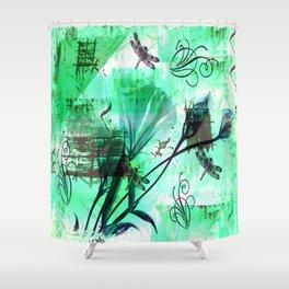 Mint Frappe Shower Curtain
