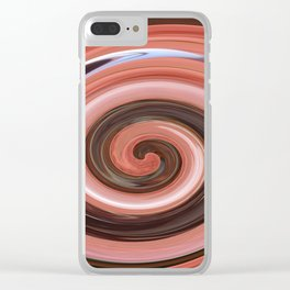 Swirl 01- Colors of Rust / RostArt Clear iPhone Case