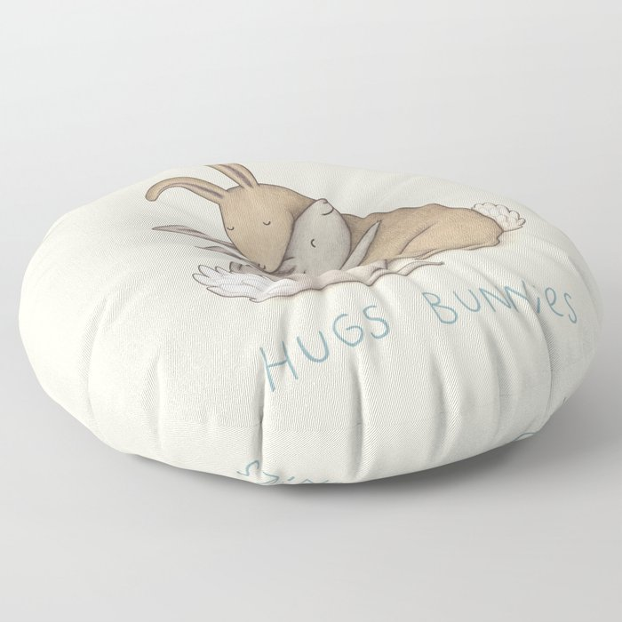 Hugs Bunnies Floor Pillow