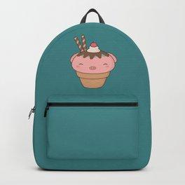 Kawaii Cute Pig Ice Cream Cone Backpack