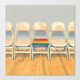 Rainbow Chair Canvas Print