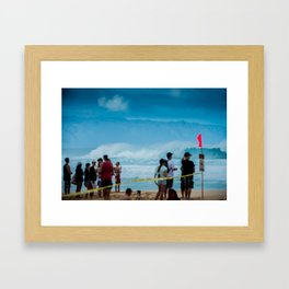 Pipemasters final day in Hawaii Framed Art Print