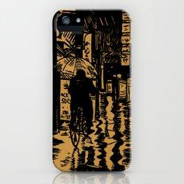 Tokyo Night Alley Ride iPhone Case