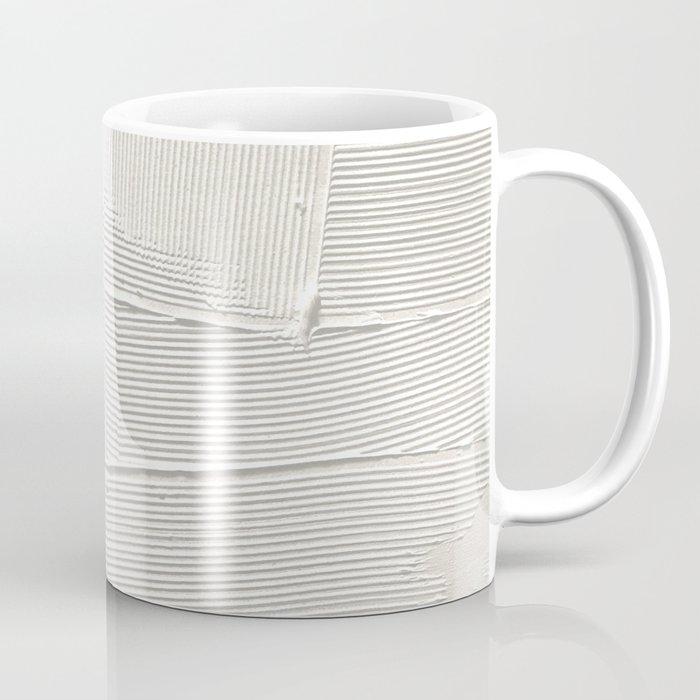 Relief [1]: an abstract, textured piece in white by Alyssa Hamilton Art Kaffeebecher