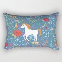 Colorful Unicorn Pattern Rectangular Pillow