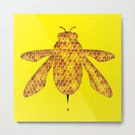 THE BEE & JUPITER Metal Print