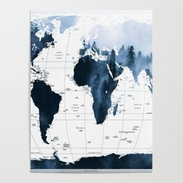ALLOVER THE WORLD-Woods fog map Poster