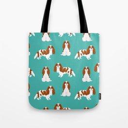 Cavalier King Charles Spaniel blenheim coat dog breed spaniels pet lover gifts Tote Bag