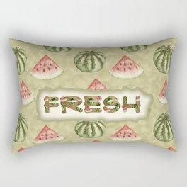 Fresh Vegan Abstract Watercolor Watermelon Rectangular Pillow