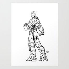 L'homme de fer Art Print