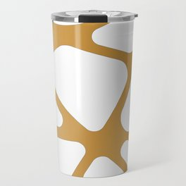 Abstract Golden lines Travel Mug