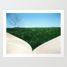 reading 3 Art Print