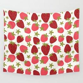 Modern Strawberry Summer Fruit Wall Tapestry