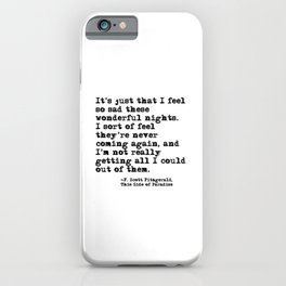 These wonderful nights - Fitzgerald quote iPhone Case