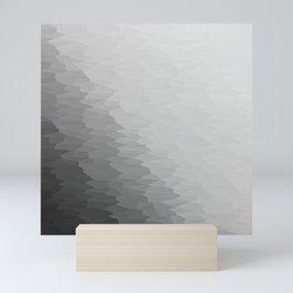 Gray Texture Ombre Mini Art Print
