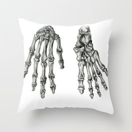 Hand & Foot Throw Pillow