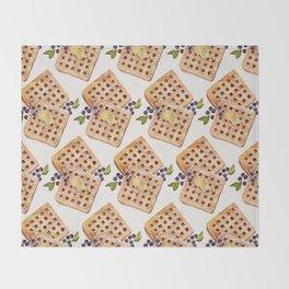 Blueberry Breakfast Waffles Throw Blanket