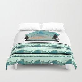 Watercolor Mountains Duvet Cover
