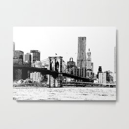 New York line Metal Print