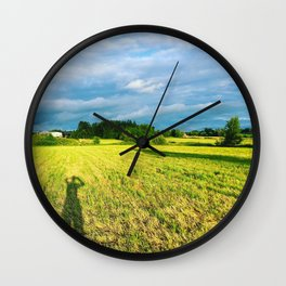 Chemin Richelieu, Saint-Mathias, Québec, Cananda Wall Clock