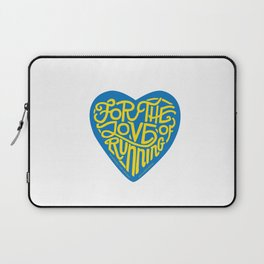 For The Love Of Running - Blue & Gold Laptop Sleeve
