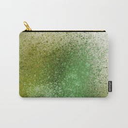 Olive Green Paint Splatter Carry-All Pouch