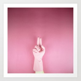 Mighty pink glove Art Print