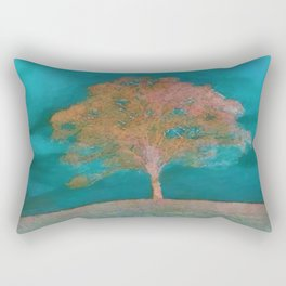 ABSTRACT - solitary tree Rectangular Pillow